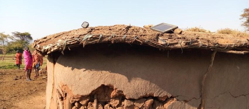 Maasai Culture - Houses. Mumzy in Kenya, Africa